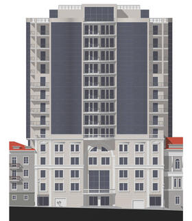 Модель высотного здания