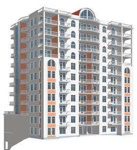 Аксонометрии результатов моделирования высотного здания