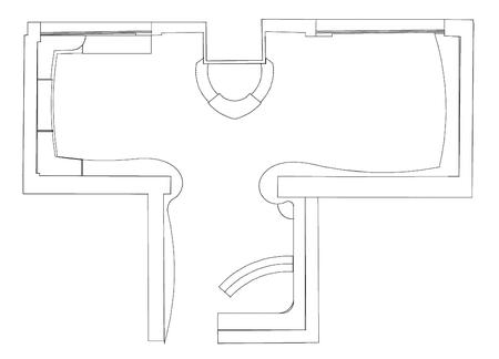 Торговое оборудование, вписанное в исходную параметрическую модель