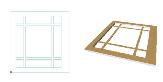 Моделируем геометрию новой дверной панели