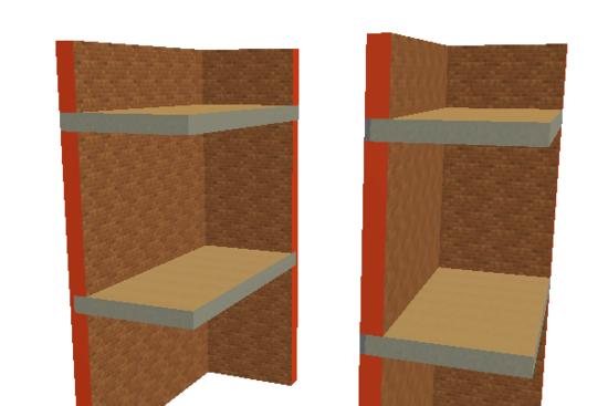 Рис. 1. Пересечение многоэтажной стены и перекрытий