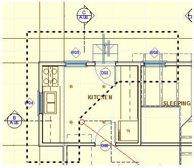 Рисунок 12. Утолщенная бегущая рамка позволяет получить объемный вертикальный разрез по нескольким этажам