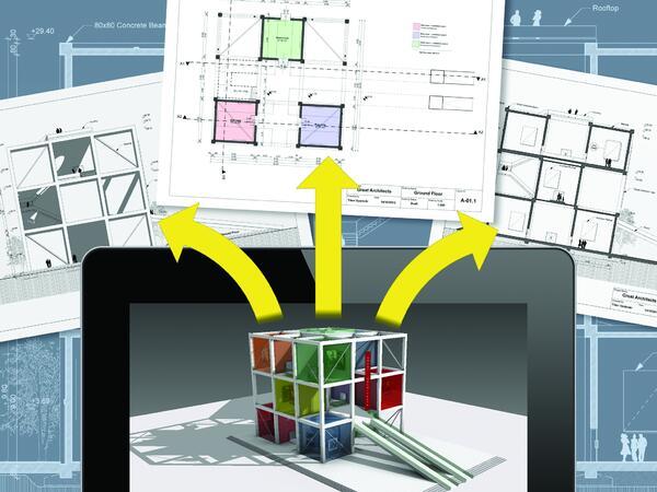 В приложении BIMx реализована технология навигации по 2D-документации и 3D-модели проекта