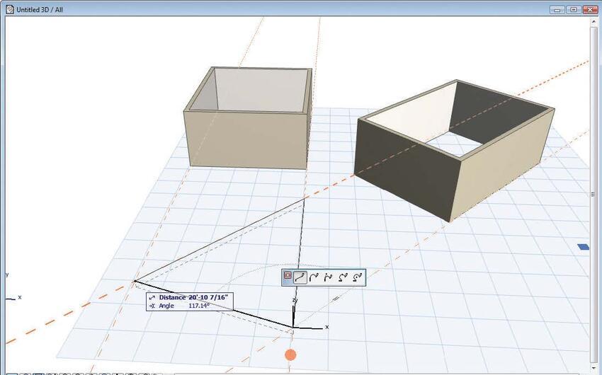 Рис. 8. Отображение нескольких направляющих линий в SD-окне для более точного расположения элементов