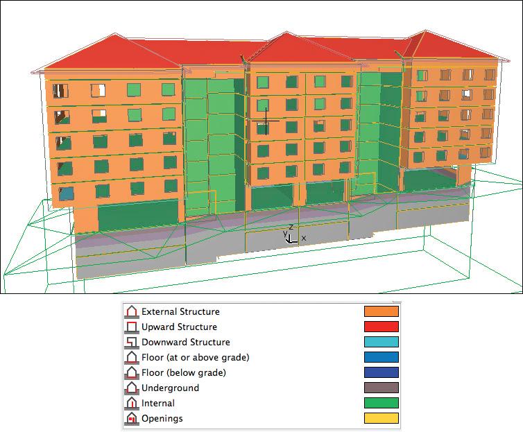 Рис. 9. Можно задать огромное число параметров энергетического паспорта здания - вплоть до функционального назначения и графика загрузки помещений