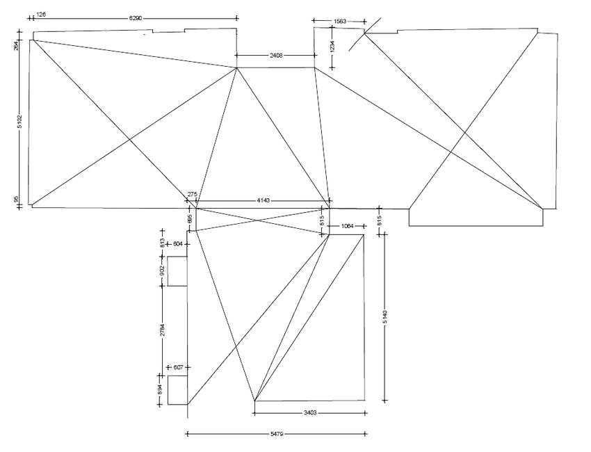 Схема обмеров с диагональными ходами
