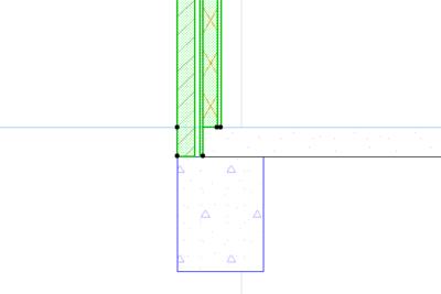 Многослойные стены с разной высотой слоев
