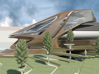 Проект музея современного искусства - лучшая работа международного конкурса ArchitectsJURY 2009